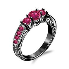 Pink Sapphire Engagement Wedding Ring In Sterling Silver by JewelryHub on Opensky