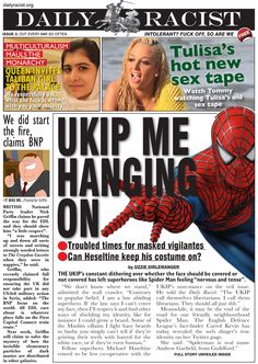UKIP Call for Ban on Veils Worries Spider Man www.dailyracist.org