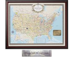 U.S. Traveler Map and Plaque
