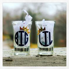 #Big #Little #ShotGlass Set Personalized #Sorority Shot Glasses Who #loves their sorority #sisters more than you?