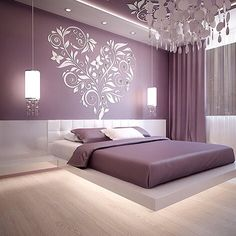 Best Glidden Interior Paint Colors for a Purple Bedroom Luxury Bedroom Design, Bedroom Bed Design, Bedroom Furniture Design, Home Decor Bedroom, Living Room Decor, Interior Design, Purple Bedroom Design, Bedroom Ideas, Purple Interior