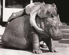 this is @Monica Kincaid and her hippo  She gets a hippo ? Why can't i have one?
