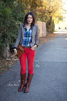 i am dying to get a pair of red pants.  i think maybe a bit more maroon would be my style.