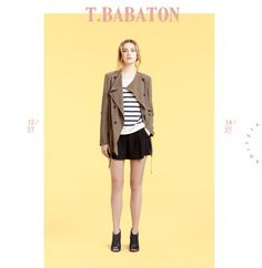 T. Babaton Fitzgerald Jacket, Hobart Sweater in Pure Linen, Alvin Shorts in Sat in-backed Crepe