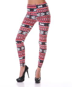 Take a look at this Red & Pink Leggings on zulily today!