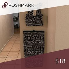 2 piece set Black and white patterned 2 piece: crop top and long skirt Other