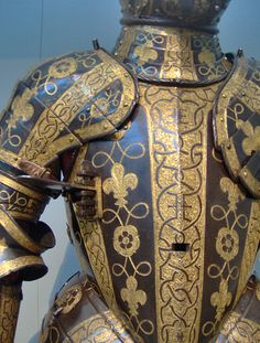 Armor of George Clifford, Third Earl of Cumberland (detail of scrollwork)  ENGLISH,MADE IN THE ROYAL WORKSHOPS CA 1580-85