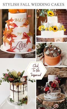 36 Fall Wedding Cakes That WOW ❤ Fall wedding cakes with fruits and golden leaves make a connection with autumn season. Check out stylish autumn wedding cakes! #wedding #cakes #weddingcakes #fallcakes #fallweddingcakes