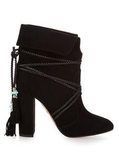 X Poppy Delevingne Moonshine ankle boots   Aquazzura   MATCHESFASHION.COM US