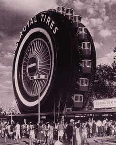 Did you know that Detroit's I-94 Uniroyal tire was once a giant ferris wheel at the 1964 NY World's Fair? Yup....even Jacqueline Kennedy took a ride with the kids (Caroline & John).