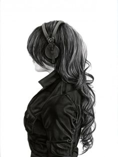 drawings of girl with headphones - Google Search