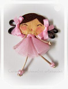 MUÑECA BAILARINA [http://www.caramelcomplementos.es/2014/10/broche-my-doll-bailarina.html]