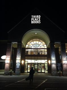 Len Vlahos with guitar outside Third Place Books in Lake Forest Park, WA just before event for The Scar Boys. January 2014.