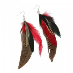 Gray Elegant Fashionable Long Feather Earrings | favwish - Jewelry on ArtFire