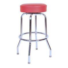 Amazon.com: Classic Red Chrome 30 Inch Swivel Bar Stool - Made in USA: Furniture & Decor - $36.36 - Amazon