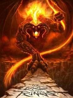 Balrog Of Morgoth, Gandalf, Lotr Movies, Lord Of The Rings Tattoo, Dragons, Fellowship Of The Ring, Alternative Movie Posters, Dark Lord, The Crow