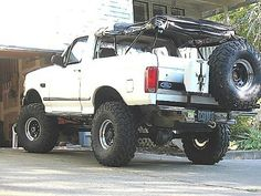 Truck Mods, Suv Trucks, Mini Trucks, Cool Trucks, Pickup Trucks, 1995 Ford F150, 1995 Ford Bronco, Ford 4x4, Bronco Truck
