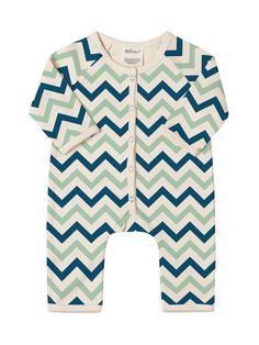8bbbd9593604 Another great find on SoftBaby Blue   Green Chevron Organic Cotton Playsuit  - Infant by SoftBaby
