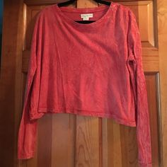 Urban Outfitter slightly cropped top Orange long sleeve slightly cropped top Staring at Stars Tops Crop Tops