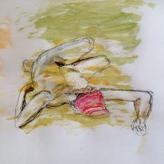 Nude study by Gaby von Oven, 2016 Art Work, Oven, My Arts, Study, Painting, Work Of Art, Kitchen Stove, Studio, Painting Art