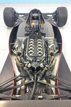 1989 Ferrari Tipo 639 Serial Number 106 - Engine from front Ferrari F1, Racing Car Design, Automobile, Kart Racing, Alfa Romeo Cars, Formula 1 Car, Futuristic Cars, Vintage Race Car, Car Engine
