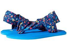 Sanuk Kids Yoga Sling Burst Floral (Little Kid/Big Kid Girl's Shoes Navy  Multi