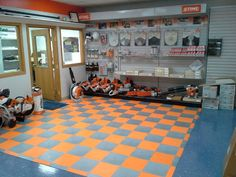 Garage Tiles great for retail locations as well! #GarageFlooring