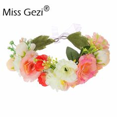 Find More Hair Accessories Information about 1pcs Wedding Bridal Flower Hair Accessory Big Flower Tiaras Fabric Flower Crowns Handcrafted Woman Girls Flower Garland,High Quality flower,China flowers material Suppliers, Cheap flower garland from Hair's Art Online Wholesale Store on Aliexpress.com