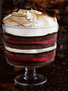 Raspberry And Chocolate Frozen Trifle | Donna Hay