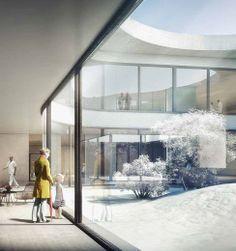 a f a s i a: Herzog & de Meuron . Cultural Architecture, Architecture Visualization, Architecture Student, 3d Visualization, Architecture Drawings, Architecture Plan, Rendering Drawing, Photoshop Rendering, Render Image