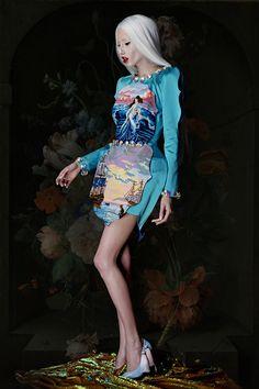 "Marina Krtinic {Fox Models} by Milos Nadazdin for Ana Ljubinković ""Cloudwalker"" Collection S/S 2016 ~ MUA: Milica Jevtic ~ Hair: O`livio"