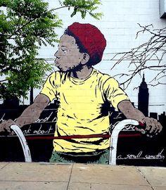chris stain street art Bushwick NYC Kids on Walls — Part II: Chris Stain, Alice Pasquini, James Rubio, Sonni, Icy and Sot, El Niño De Las Pi...