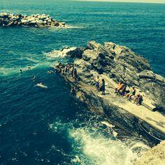 Cinque Terre sea frolicking with locals