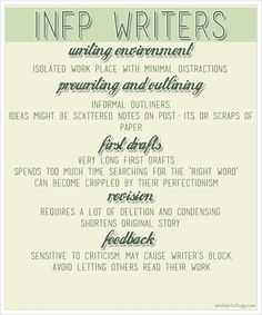 (INFP Writers)  I love it when I make sense to me - finally! ;) This IS me! :)