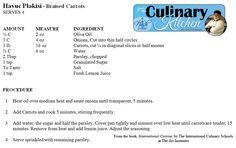 Braised Carrots Thanksgiving Recipe, Nash Community College Culinary Arts School, Rocky Mount, NC
