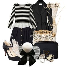 ndfashionmonth day 28   Titanic Themed Nancy Drew Game by detectiveworkisalwaysinstyle on Polyvore featuring RED Valentino, OROBLU, Nine West, Dolce&Gabbana, Forever New, Blu Bijoux, Jamie Jewellery and J.Crew