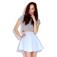 LUCY DENIM SKATER SKIRT £15