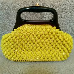 Adorable small vintage beaded purse So cute and a gorgeous color. Made in Italy Vintage Bags