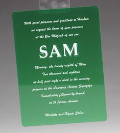 We're green with envy of this beautiful design! 😁 The background was printed in transparent ink using our uv color printer. Did we mention we can match PMS colors? Acrylic Invitations, Pms Colour, Table Signs, Fort Collins, Bar Mitzvah, Acrylic Colors, Corporate Events, Special Events, Envy