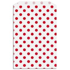 Red Dot Paper Favor Bags from Layer Cake Shop!  qty.24 / $5.25