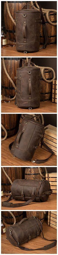 Handmade Designer Backpacks Mens Leather Backpack Rucksack
