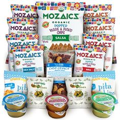 Premium Natural Snack Bundle - the Perfect Gift or Care Package - Nothing Artificial - Mozaics Chips, Veggicopia Dips & Olives, Cabo Crunch Nut Mix, Crunchicopia Pita Chips (20 Count) ** Want additional info? Click on the image. (This is an affiliate link) #healthysnackbundle