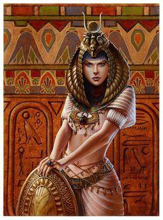 ÍSIS, é a mais popular de todas as deusas egípcias, considerada a deusa da família, o modelo de esposa e mãe, invencível e protetora. Usa os poderes da magia para ajudar os necessitados. Ela criou o rio Nilo com as suas lágrimas