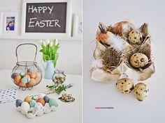 blue easter decoration  , eggs