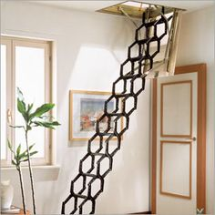 retractable attic ladder - for entry in one or two other bedrooms.
