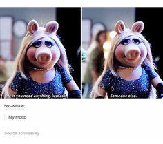 Miss Piggy is just goals