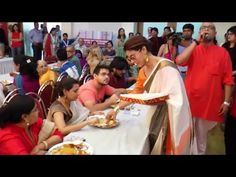 WATCH Kajol serving bhog prasad at Durga Puja Celebration 2015. See the full video at : https://youtu.be/YYQRmSAt-hk #kajol #durgapuja