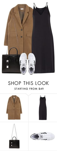 """Untitled #3962"" by london-wanderlust ❤ liked on Polyvore featuring Theory, Yves Saint Laurent and adidas Originals"