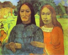Mother and Daughter, Paul Gauguin Size: cm Medium: oil on canvas Paul Gauguin, Gauguin Tahiti, Regard Animal, August Renoir, Kunst Online, Impressionist Artists, Free Art Prints, Oil Painting Reproductions, Art Moderne