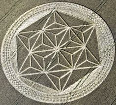Crop Circle At Etchilhampton, nr Devizes, Wiltshire. Reported 25th July 2011. - Shattering The Matrix
